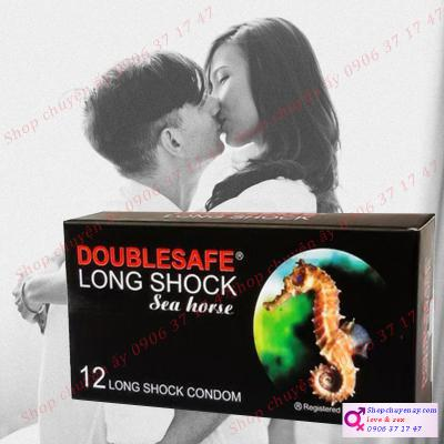 Bao cao su Double Safe long shock