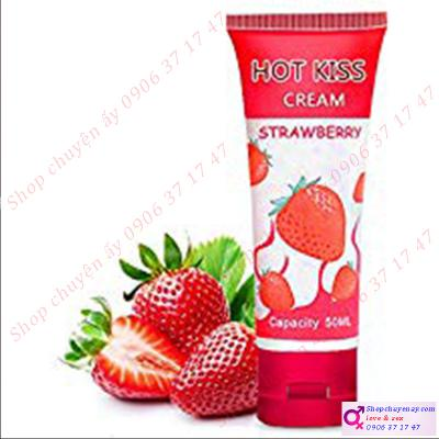 Gel bôi trơn Hot kiss Cream hương dâu 50ml